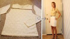 Merricksart: easiest shirt to skirt tutorial I have ever seen!