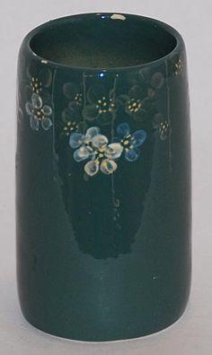 Weller Pottery Louwelsa Green Flowered Vase