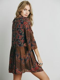 Free People Heatwave Printed Mini Dress at Free People Clothing Boutique
