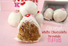 Coconut White Chocolate Brownie Truffles - Crazy for Crust
