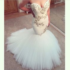 mermaid wedding dresses on sale at reasonable prices, buy Sexy Mermaid Wedding Dresses Sweetheart Off The Shoulder Bride Dresses With Beading Tulle Bridal Gowns 2016 Vestidos De Novias from mobile site on Aliexpress Now! Elegant Prom Dresses, 2016 Wedding Dresses, Cheap Wedding Dress, Bridal Dresses, Wedding Gowns, Dresses 2016, Party Dresses, Couture Dresses, Stunning Dresses