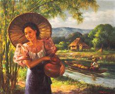 Dalagang Filipina by CesarBuenaventura Philippine Mythology, Philippine Art, Philippine Women, Filipino Art, Filipino Culture, Italian Colors, Philippines Culture, A Level Art, Filipina