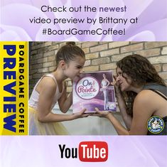 Check out the hilarious new board game preview of On Pointe - The Ballet Board Game by Brittany at Board Game Coffee.  View it on youtube! #ballet #boardgame Coffee Games, Gifts For Girls, Brittany, Board Games, Hilarious, Boards, Ballet, Youtube, Check