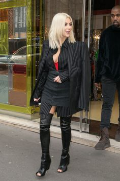 In Givenchy while out in Paris. See the best of Kim Kardashian's 2015 outfits.