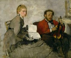 Edgar Degas - Violinist and Young Woman [c.1871]