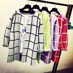 off  2017 Spring Autumn Casual Pocket Plaid Cardigans Outwear Women Long  Cardigan Sweaters Loose Long Sleeve Knitting Sweater Coat a33b11516