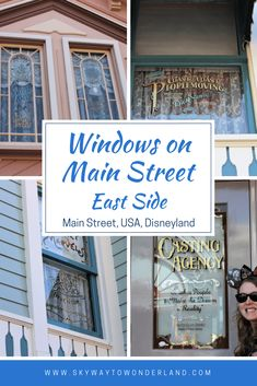 Windows on Main Street: East Side – Skyway to Wonderland Disneyland History, Disneyland Main Street, Disneyland Vacation, Disneyland Tips, Disney Vacation Planning, Disney Tips, Disney Couples, Disney Disney, Disney Events