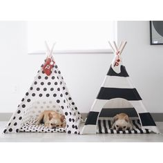 """Dear Santa, my sister is the naughty one... @piggyandpolly  Thank you so much for all the orders and support! The Striped teepees are sold out until next…"""