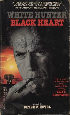 "White Hunter Black Heart by Peter Viertel, 1987. From the back cover: ""They were at the mercy of Africa's granduer and degradation... caught between love and hate."" CLAIMED 09/26/13"