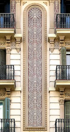 Barcelona Architecture Modernista detail.