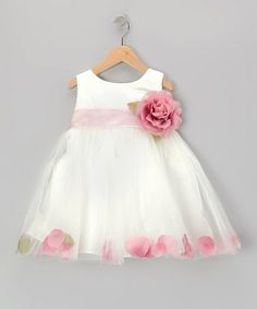 Dark Pink Rose Petal Bubble Dress - Infant by Cinderella Couture #zulily #zulilyfinds