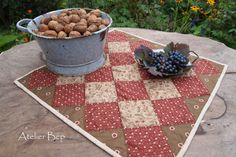 herfst tafelquiltje  made by Atelier Bep