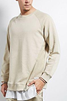 KDNK Zip-Hem Terry Sweatshirt | 21 MEN - 2000208281