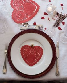 Valentine's Dinner Table Display; Hearts