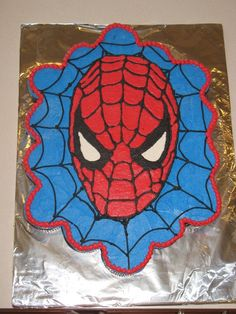 spiderman cupcakes cake @Cindy harper  We have a spiderman party in our very near future!! :)