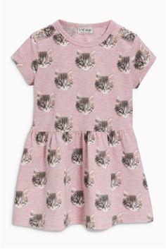 Pink Cat Printed Tunic (3mths-6yrs)