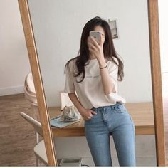 Hottest Absolutely Free Makeup style korean Tips, Ideas Makeup Korean Style Ulzzang Korea Korean Street Fashion, Korean Girl Fashion, Seoul Fashion, Korean Fashion Trends, Ulzzang Fashion, Korea Fashion, Asian Fashion, Trendy Fashion, 70s Fashion