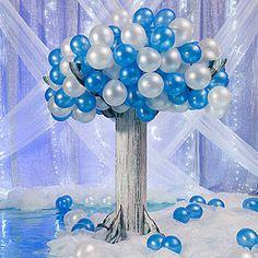 Winter Wonderland Table Decorating Ideas | Wintery Balloon Tree Kit