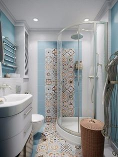 Space saving corner shower cabin small bathroom design and decorating ideas White Bathroom Tiles, Modern Bathroom, Earthy Bathroom, Shower Tiles, Bathroom Wall, Wall Tiles, Bathroom Design Small, Bathroom Interior Design, Interior Modern