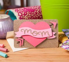 """The iconic """"Mom"""" heart tattoo! Try something a little less permanent to show your love for your mom with this mother's day card."""