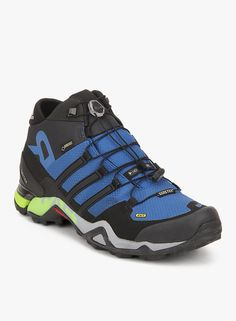 Adidas Terrex Fast R Mid Gtx Blue Outdoor Shoes   #Adidas, #Black, #Outdoorshoes