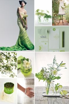 Veggie green wedding inspiration.