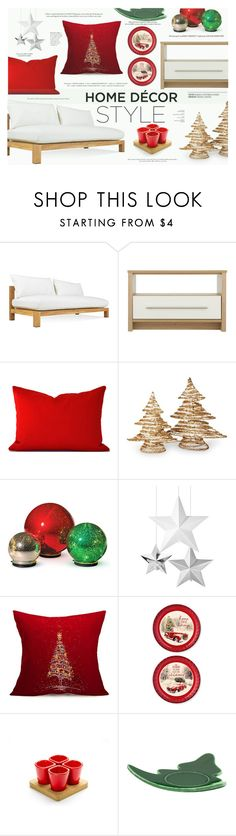 """""""Deck the Halls for Your Holiday Party"""" by katarina-blagojevic ❤ liked on Polyvore featuring interior, interiors, interior design, home, home decor, interior decorating, Harbour Outdoor, National Tree Company, Improvements and Grasslands Road"""