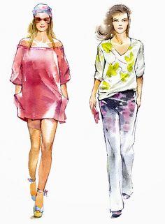 #fashion #illustration #sketch #watercolour #art #design @butovskaya