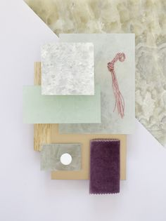 Material mood for a retail concept ~ Dove Onyx & Soft Pastels #edelstein…