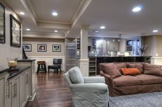 basement, but nice open space from kitchen to family room