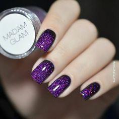 Purple Nail Designs, Gel Nail Designs, Perfect Nails, Gorgeous Nails, Cute Nails, Pretty Nails, Hair And Nails, My Nails, Nagellack Design