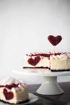 Hidden Heart Cheesecake from AmyintheKitchen.com