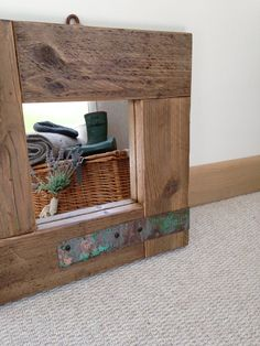 Country Home Small Rustic Mirror