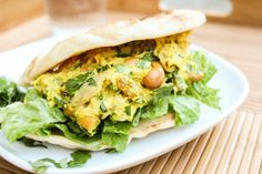 Curried Chicken Salad Sandwiches with Naan | TheFoodCharlatan.com