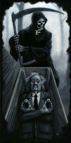 Horror art by Jeff Christensen Dark Fantasy Art, Dark Art, Grim Reaper Art, Don't Fear The Reaper, Arte Horror, Horror Art, Art Sinistre, Arte Obscura, Skull Artwork