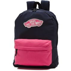 Vans Realm Backpack (£27) ❤ liked on Polyvore featuring bags, backpacks, pink, day pack backpack, backpack bags, vans bag, rucksack bags and pink bag