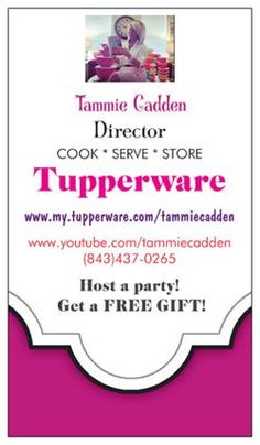 how to get a tupperware card
