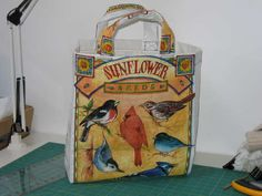 Recycled pet food tote bag