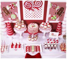 Candy Christmas Dessert Table