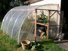There are many creative ways to heating a greenhouse using natural, electricy-free means.