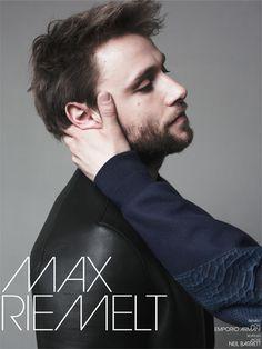 make-up&hair | grooming: andreas bernhardt @ basics-berlin.de | photographer: jonas lindström  | talent: max riemelt | client: interview magazine | basics berlin