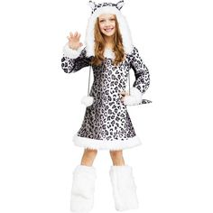 snow leopard girls Halloween costume ,Halloween gifts for girls