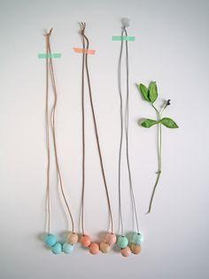 DIY mother day necklace | La maison de Loulou // claradeparis.com ♥