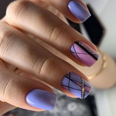 66 beautiful summer nails design with natural short square nails - Page 3 of 4 - Latest Fashion Trends For Woman Manicure Nail Designs, Nail Art Designs, Nails Design, Gel Overlay, Square Nail Designs, Short Square Nails, Geometric Nail, Pretty Nail Art, Nail Envy
