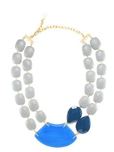 This David Aubrey necklace turns a basic white tee into something fabulous.