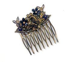Vintage Brass Hair Comb Vintaj Butterfly by PrettyLittleThorn