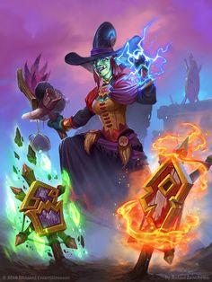 Hearthstone - Wicked Witchdoctor, rafael zanchetin on ArtStation at https://www.artstation.com/artwork/oQkbk