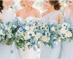 Light Blue Flowers, Blue Wedding Flowers, Diy Wedding Bouquet, Bride Bouquets, Bridal Flowers, Floral Wedding, Fall Wedding, Wedding Colors, Dream Wedding