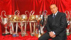 Silvio Berlusconi, presidente onorario del Milan. Bozzani