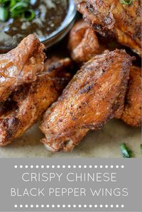 A twist on the classic Chinese black pepper chicken dish- instead of using boneless chicken. use wings to make the perfect party food!